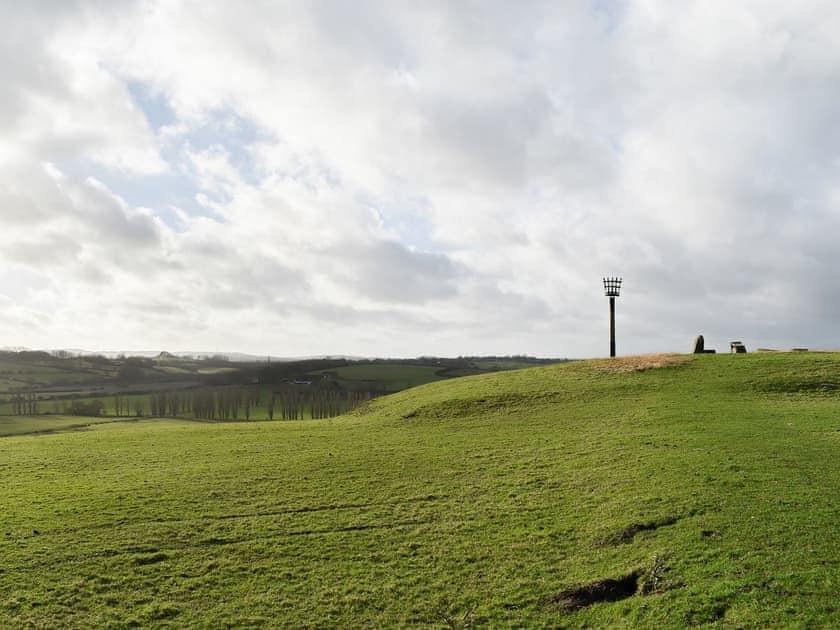 The beacon, overlooking the surrounding countryside | Hiham Lodge, Winchelsea, near Rye