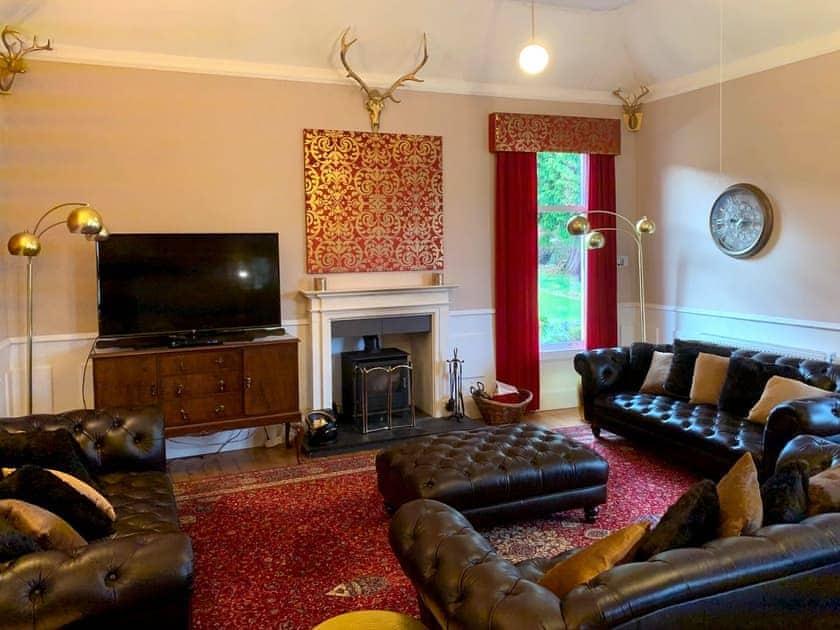 Comfortable living room with wood burner | Rhumhor House, Carrick Castle, near Lochgoilhead