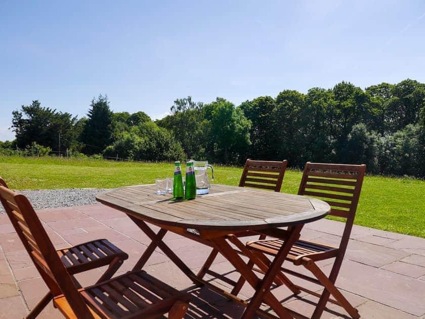 Peaceful patio area | Park Hill Barn, Woolaston, near Chepstow