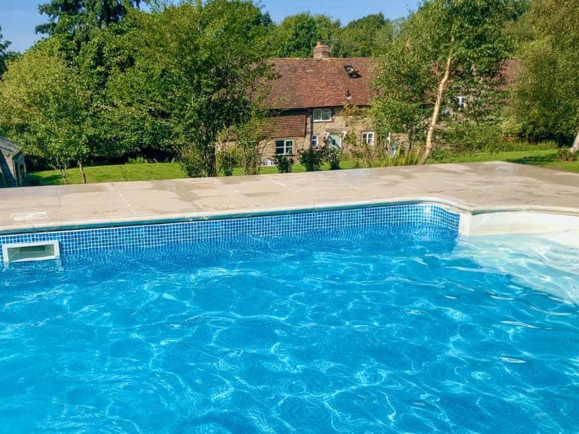 Outdoor heated swimming pool | Swallows Bottom, Redford, near Midhurst