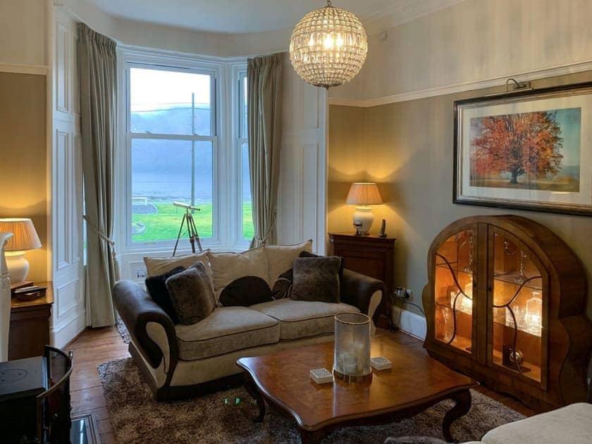 Beautifully furnished comfortable living room | Rhumhor House, Carrick Castle, near Lochgoilhead