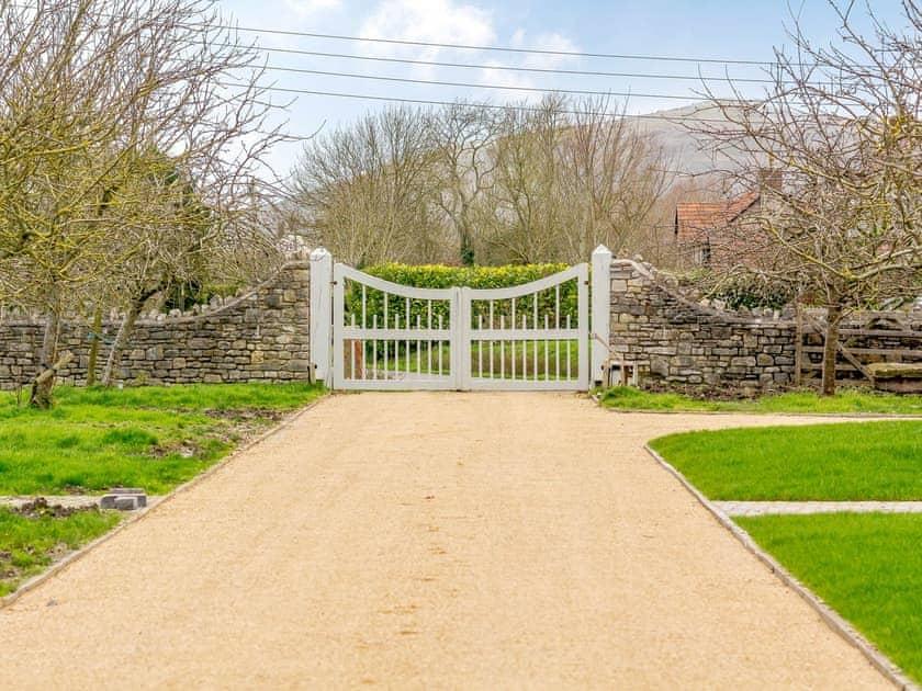 Driveway | Bramley, 2 - Home Farm Holiday Cottages, Badgworth, near Axbridge