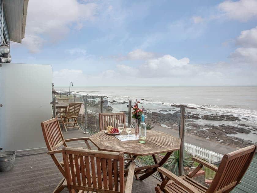 Spacious decked balcony   Sea Front House 4 - Golden Bay Holiday Village, Westward Ho!