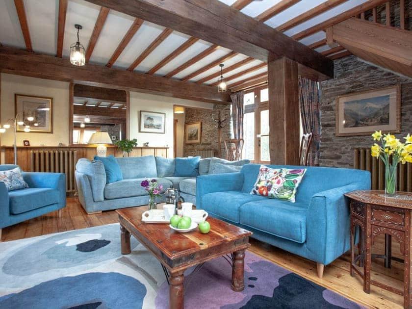 Living room   Edgecombe Barn - Tuckenhay Mill, Bow Creek, between Dartmouth and Totnes