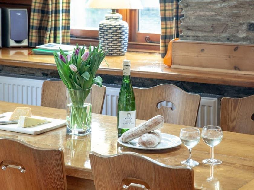 Dining Area   Edgecombe Barn - Tuckenhay Mill, Bow Creek, between Dartmouth and Totnes