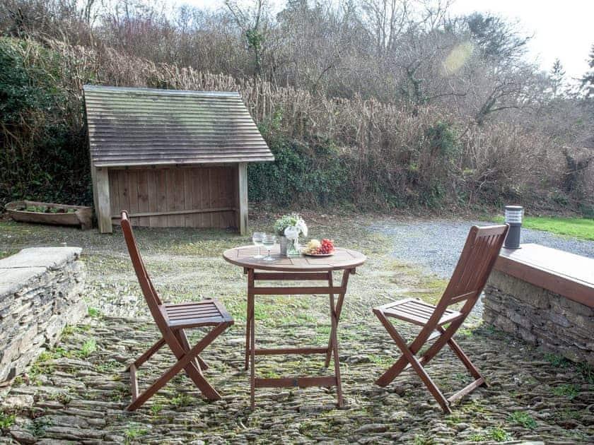 Outdoor area   Edgecombe Barn - Tuckenhay Mill, Bow Creek, between Dartmouth and Totnes