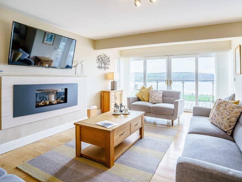 Living area | LLyswen - Gwbert Holiday Cottages, Gwbert, near Cardigan