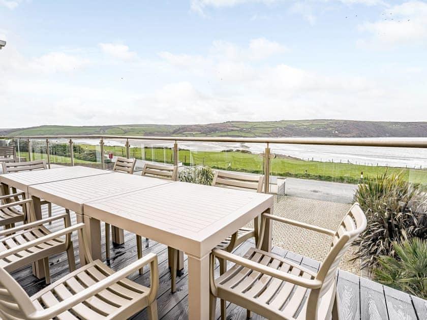 Balcony | LLyswen - Gwbert Holiday Cottages, Gwbert, near Cardigan
