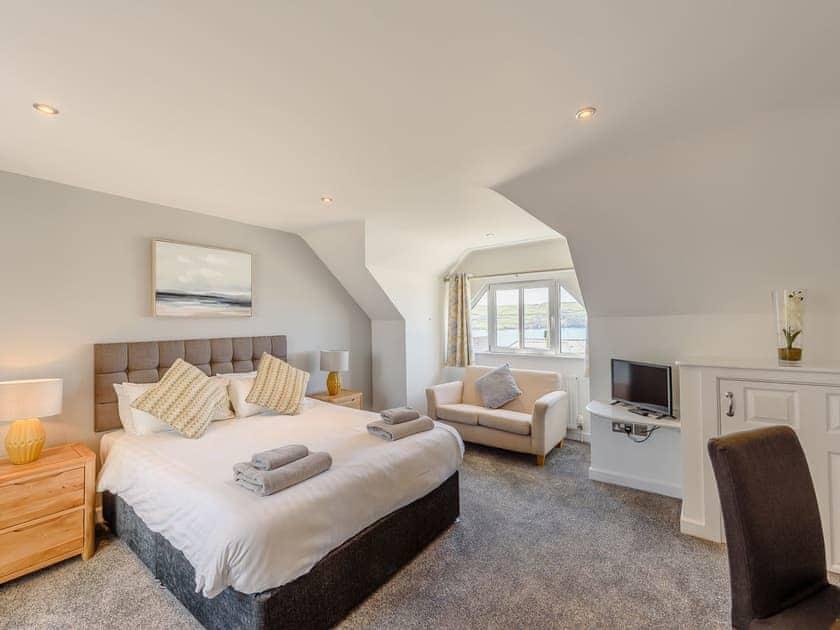 Double bedroom | Sandbank - Gwbert Holiday Cottages, Gwbert, near Cardigan