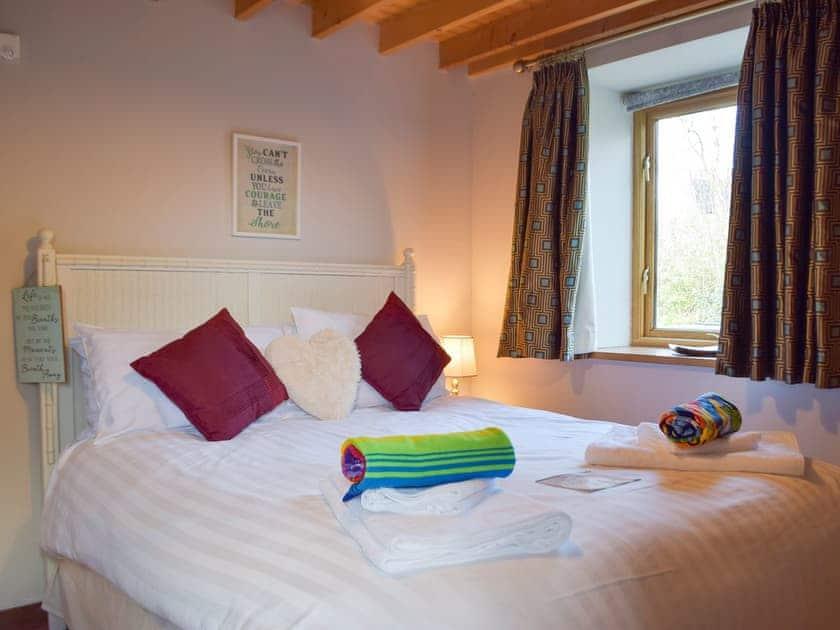 Double bedroom | The Chapel - Chapel Escapes, Cross Inn, near New Quay