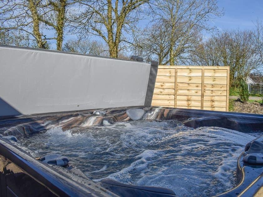 Hot tub | The Vestry - Chapel Escapes, Cross Inn, near New Quay
