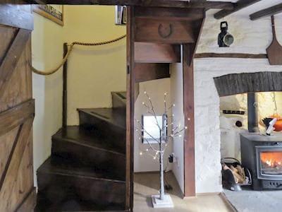 Wooden staircase to upper floor | Caepost, Talgarth, near Brecon