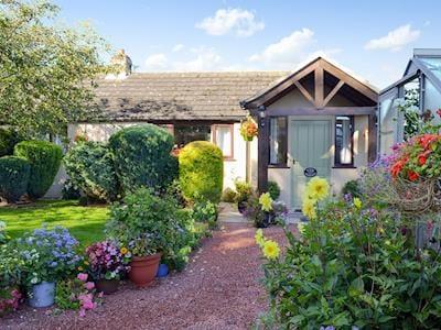 Exterior with stunning garden & flowers | Housemartins Cottage, Haxby near York