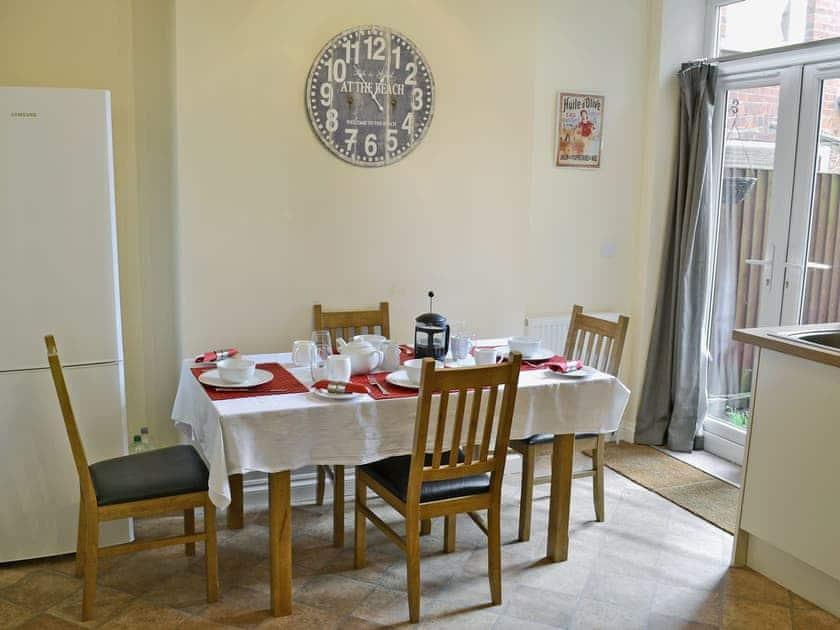 Dining area leading to patio doors | Samphire, Cromer