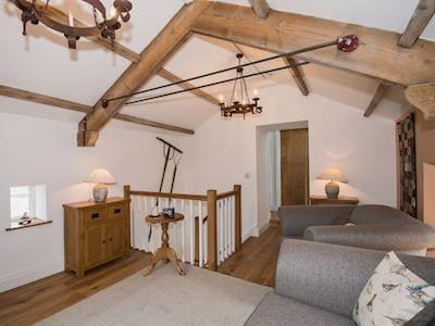 Oak staircase to first floor | The Hayloft at Mains Farm, Crosby Garrett, near Kirkby Stephen