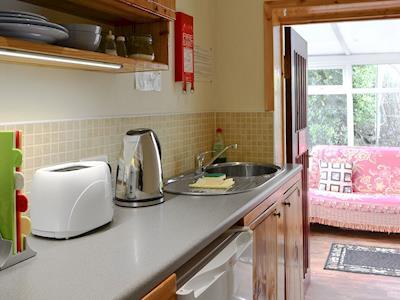 Galley-style kitchen   Hillend Guest Cottage, Moffat