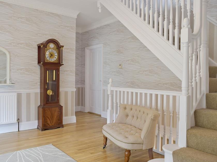 Impressive hallway and stairs | Deep Meadows, Amroth, near Saundersfoot