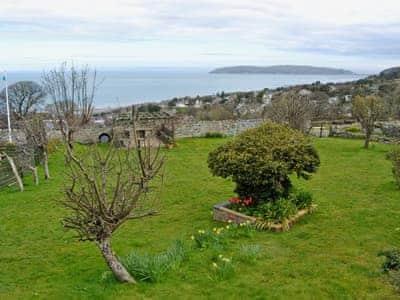Large garden boasting spectacular sea views  | Graiglwyd Farm, Penmaenmawr, Conwy