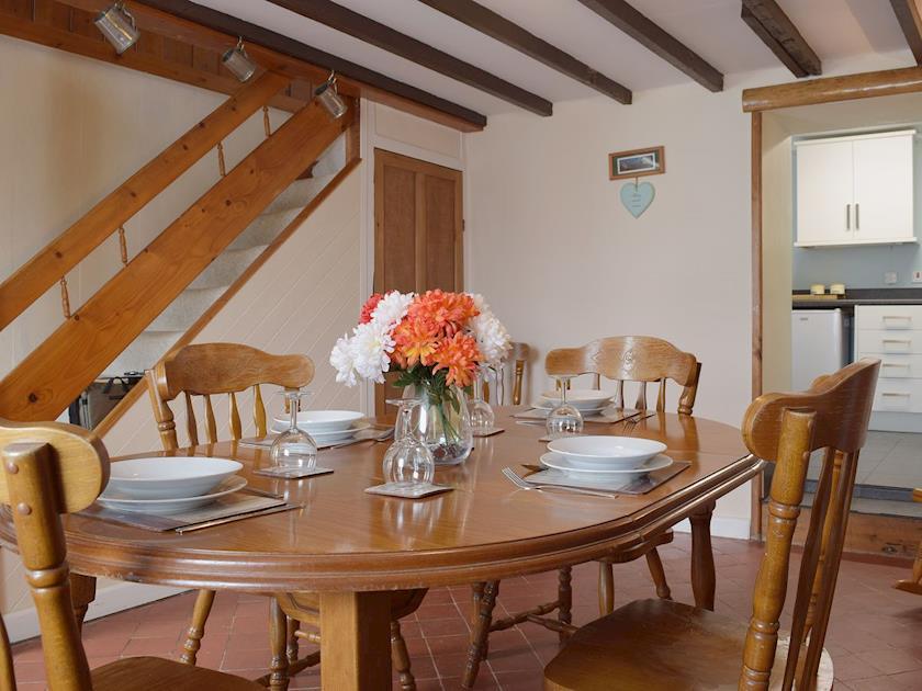 Dining room with beams | Parcllwyd Cottage, Cilgerran, near Cardigan