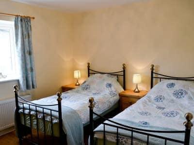 Twin bedroom - first floor | Valley View Barn, Nr. Llandrindod Wells