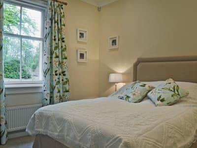 Comfortable double bedroom    Fernwoodlea - Old Inzievar Cottages, Oakley, near Dunfermline