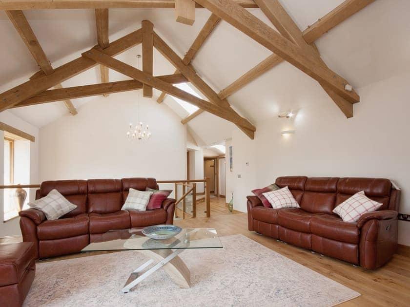 Large, spacious living room with extensive views over the countryside | Blackdown Farm, Manor Barn, Blackawton, nr. Dartmouth