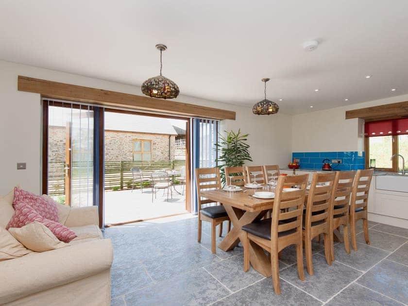 Large farmhouse style kitchen dining table | Blackdown Farm, Manor Barn, Blackawton, nr. Dartmouth