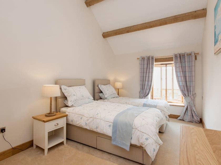 As a twin bedroom the room is spacious and light | Blackdown Farm, Manor Barn, Blackawton, nr. Dartmouth