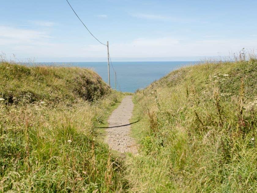 Beside the National Trust coastal path | The Rocket House, Hartland Quay, near Hartland, Bideford