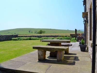 Spacious garden with sitting-out-area | The Farmhouse, Biggin by Hartington, near Buxton