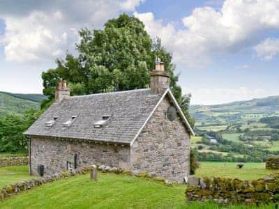 Exterior with fantastic views | Over Blairish Cottage, Keltneyburn, near Aberfeldy
