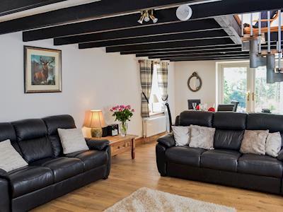 Charming living/ dining area   Chestnut Lodge, near Portpatrick