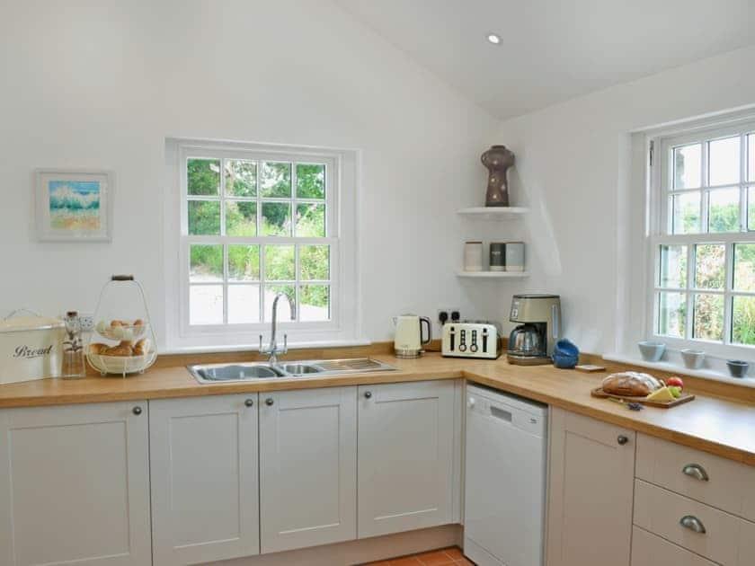 Contemporary kitchen | Lavender Cottage, Kea, near Truro