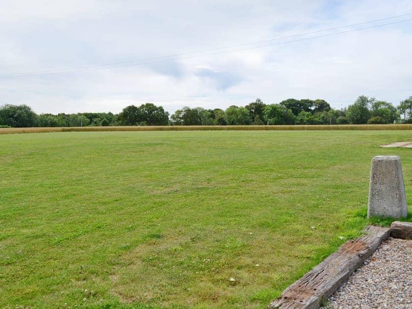 Open grassed recreation area | Fox's Den - Manor Farm Barns, Witton, near Happisburgh