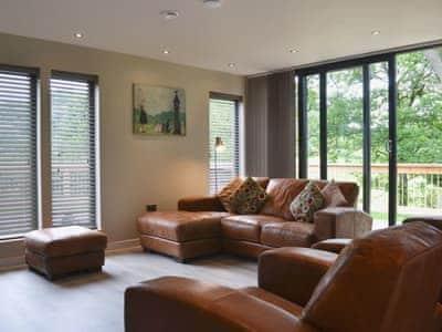 Living room/dining room   Lodge 3 - Mill Race Lodges, Llangunllo, near Knighton