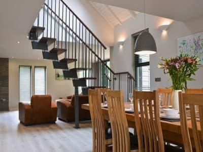 Living room/dining room | Lodge 3 - Mill Race Lodges, Llangunllo, near Knighton
