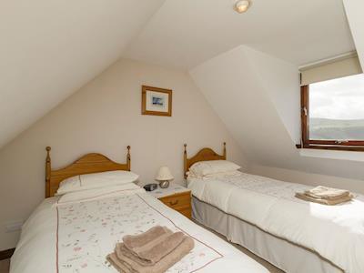 Comfortable twin bedroom | Glenview Cottage, Uig, Isle of Skye