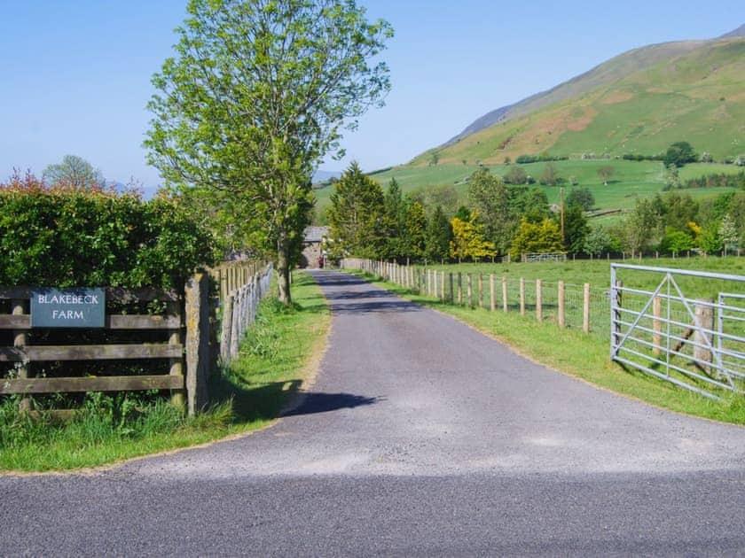 Entrance gate | The Garth, Blencathra - Blakebeck Farm, Mungrisdale, near Threlkeld