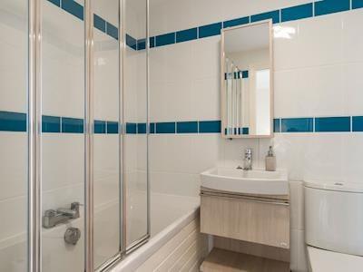 Bathroom with shower over bath | Aislaby Hall - Aislaby Hall, Aislaby, near Whitby