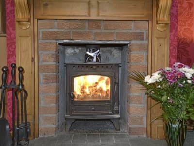 Wood-burner in living room | Sunart, Kiltarlity, near Beauly