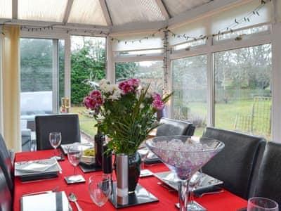 Stylish dining conservatory | Sunart, Kiltarlity, near Beauly