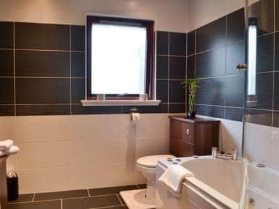 Bathroom with shower over bath | Sunart, Kiltarlity, near Beauly