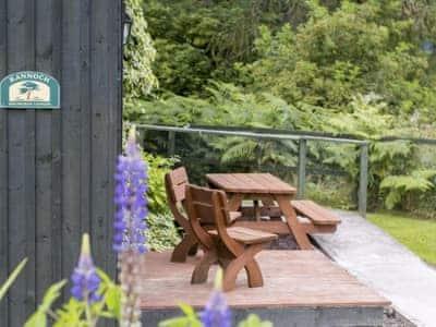 Outdoor furniture on patio | Rannoch, Aberfeldy, near Pitlochry