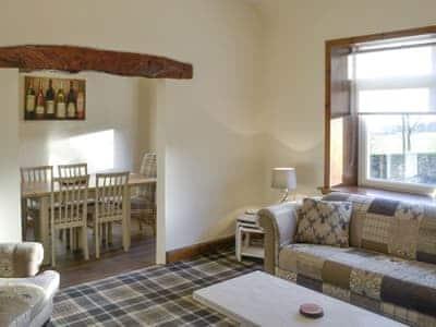 Comfy seating in living room | Airyhemming Dairy - Airyhemming, Glenluce, near Stranraer