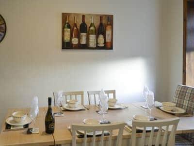 Convenient dining room  | Airyhemming Dairy - Airyhemming, Glenluce near Stranraer
