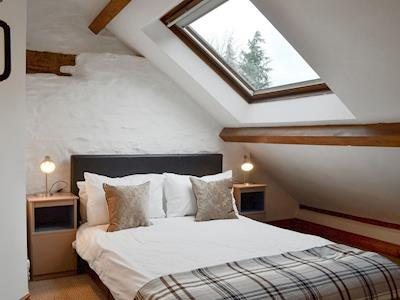 Charming double bedroom | Ty Isaf - Glyngynwydd Cottages and Wedding Barn, Glyngynwydd, near Llanidloes