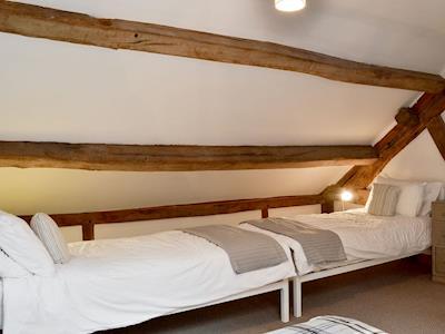 Cosy twin bedroom | Ty Cornel - Glyngynwydd Cottages and Wedding Barn, Glyngynwydd, near Llanidloes