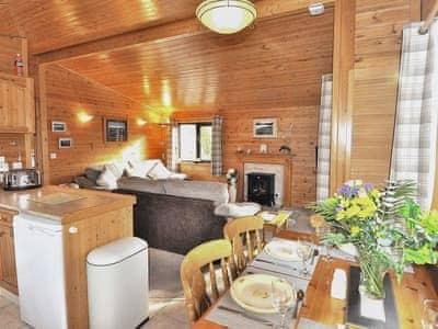 Open plan/kitchen dining | Derwent Lodge - Burnside Park - Burnside Park, Keswick