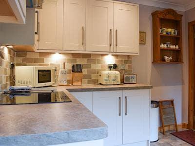 As well as quaint period decor the kitchen has all mod cons | Lochside View, Lochearnhead