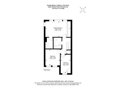 Floor plan of first floor | Bridge Mews, Ingleton
